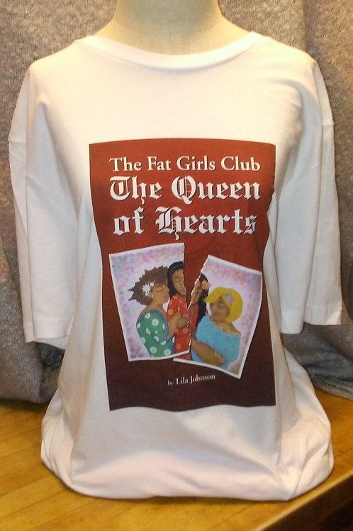The Fat Girls Club Queen of Hearts Cotton Tee