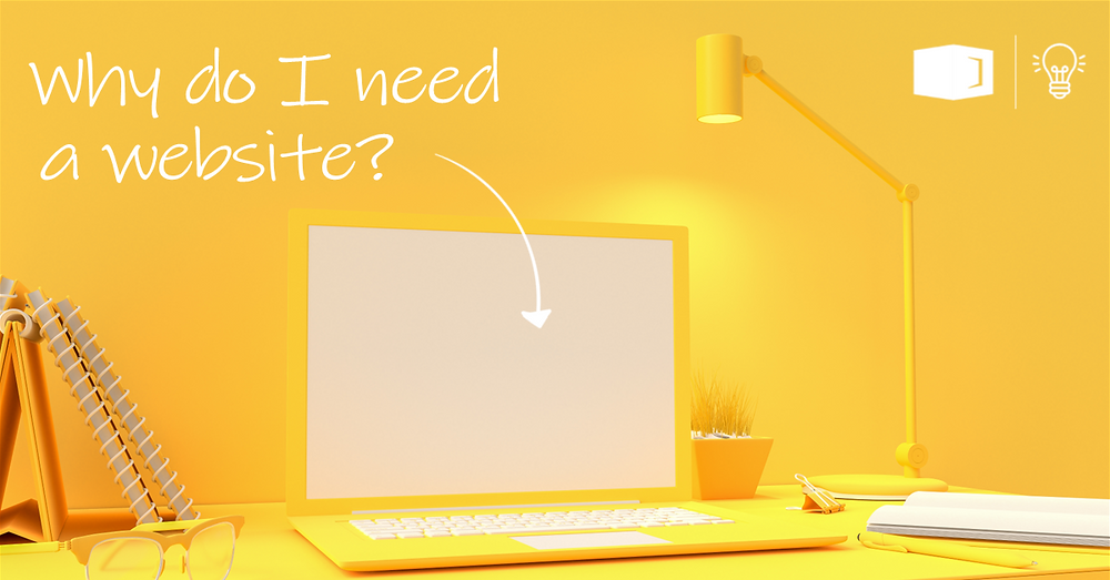Blank laptop with yellow background