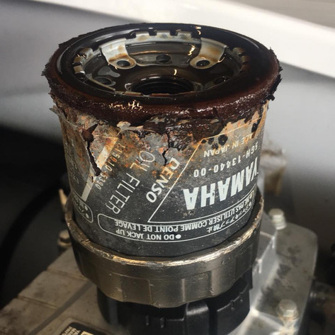 Rusted oil filter