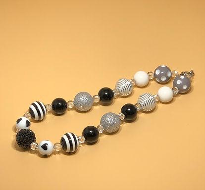 Black and White Bubble Gum Necklace