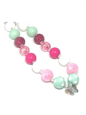 Butterfly Bubble Gum Necklace