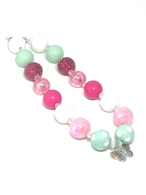Butterfly Bubble Gum Necklace