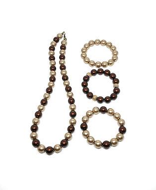 Champagne Bordeaux Necklace and Bracelet Set