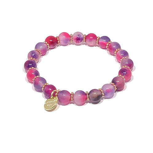 Orchid Purple Stretch Bracelet