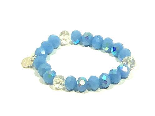Baby Blue Sparkle Stretch Bracelet