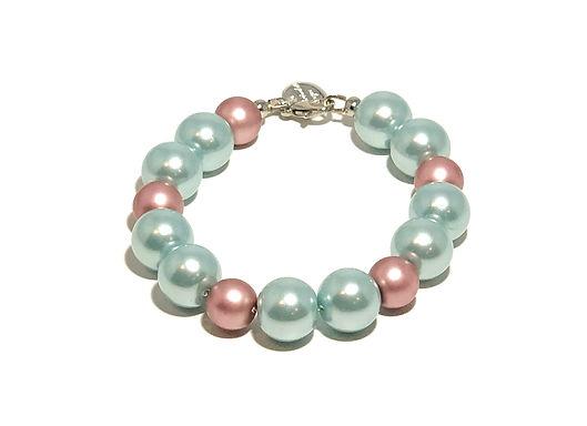 Mauve and Mint Pearl bracelet