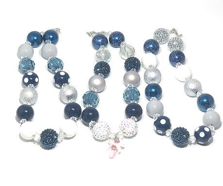 Beautiful Blues Bubble Gum Necklaces