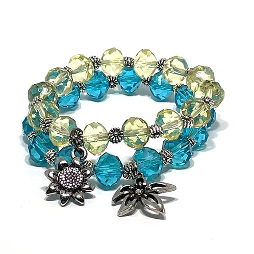 Charming Flower Bracelet Set