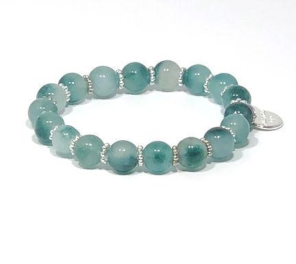 Teal Jade Stretch Bracelet