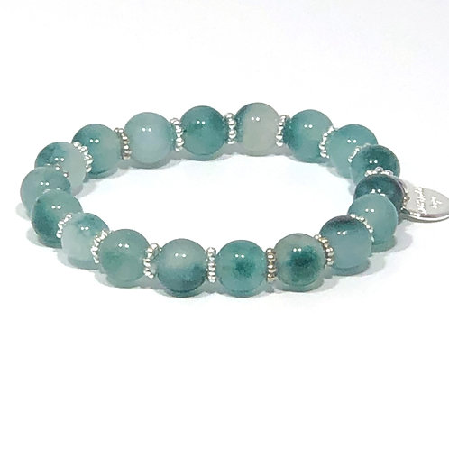Teal Jade Stretch Bracelet