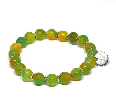 Lemon-Lime Jade Stretch Bracelet