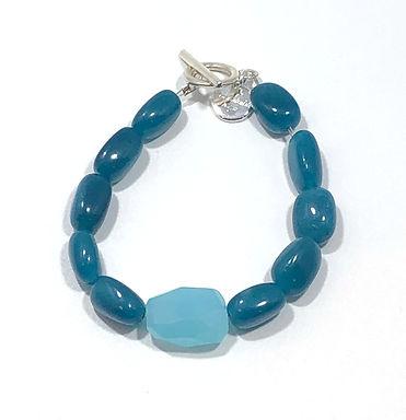 Teal and Sky Blue Bracelet