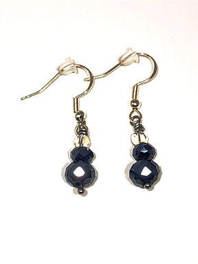 Black and Crystal Earrings