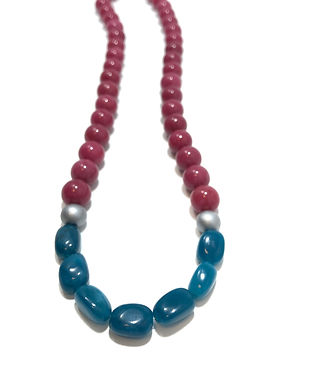Teal and Magenta Necklace