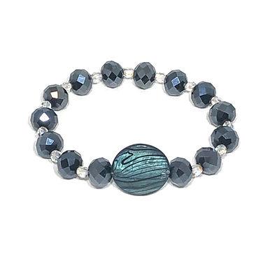 Sparkly Blue-Black Bracelet