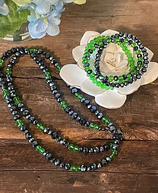 Sparkling Black and Green