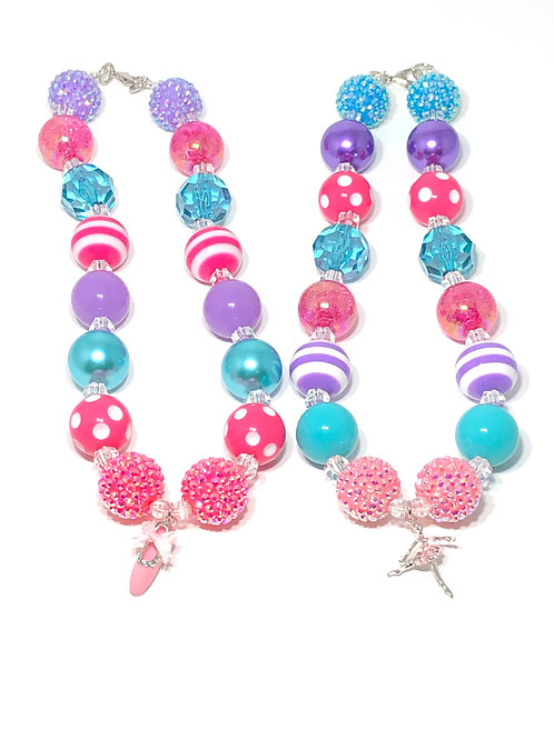 Ballerina Bubble Gum Necklace