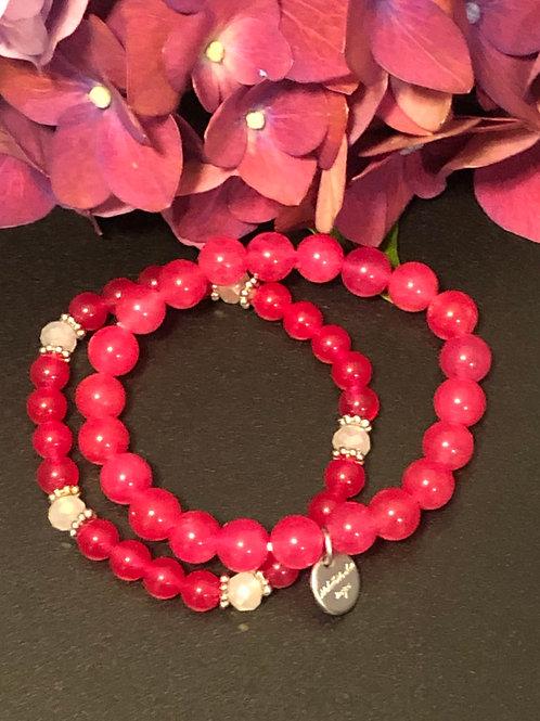 Pretty in Pink Stretch Bracelet Set