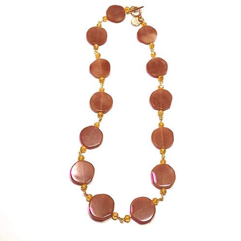 Tangerine Stone Necklace