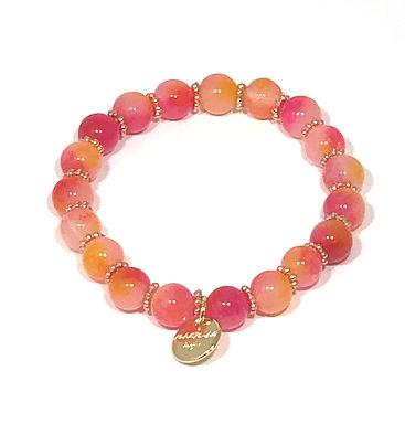 Camellia Pink Jade Stretch Bracelet