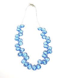 Aqua Quartz Teardrop Necklace
