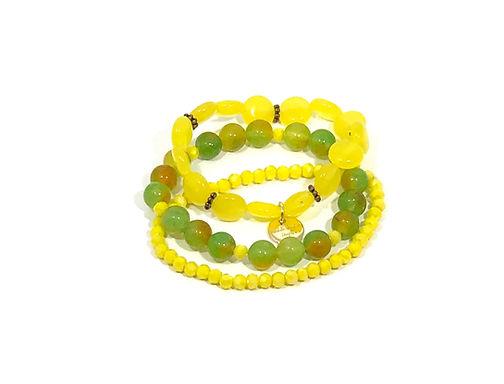 Lemon Drop Stretch Bracelet set