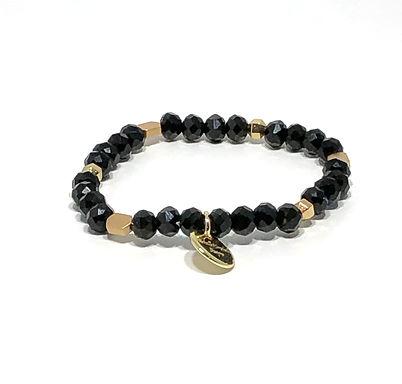 Black and Gold Stretch Bracelet