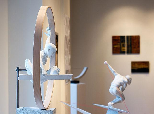 Installation View, Artist W.W. Hung, at Galerie Pierre Léon, Alliance Française, Toronto