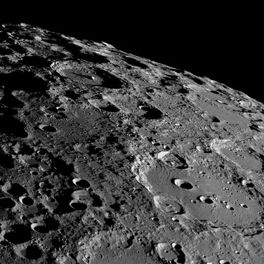 Clavius, the Southern Lunar Limb and Terminator