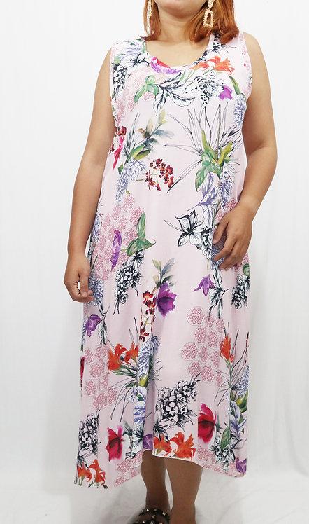 Women Resort Wear Clothing 2020 - JM 33B LONG Pink Flower
