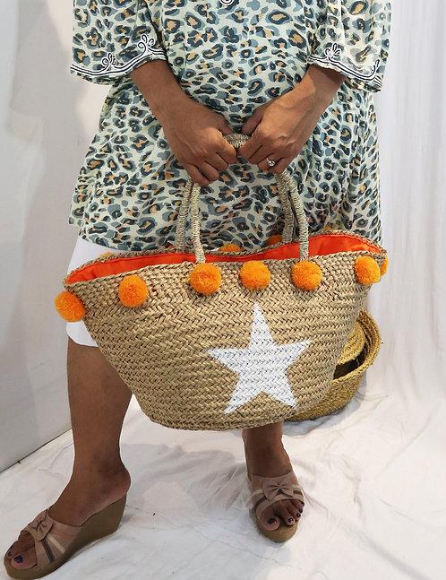 BONA06 - Bag With Orange Poms