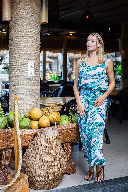 Women Resort Wear Clothing 2020 - D41095 Banana Leaf Print