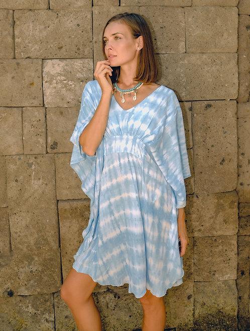 Butterfly Dress - Aqua Tie Dye - Rayon