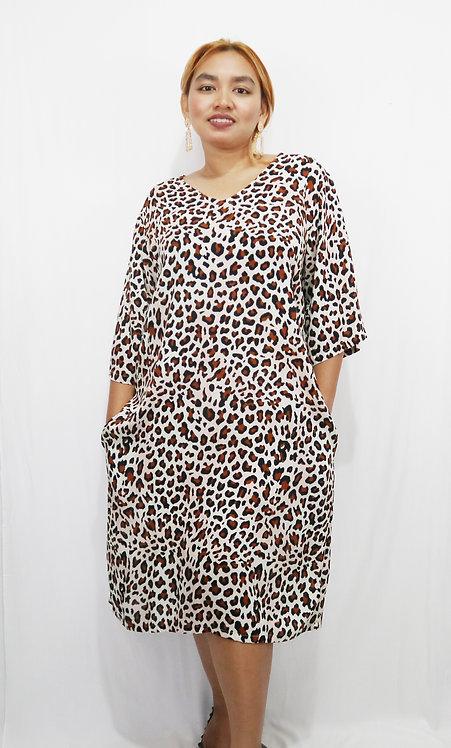 Women Resort Wear Clothing 2020 - D4751B Animal Print
