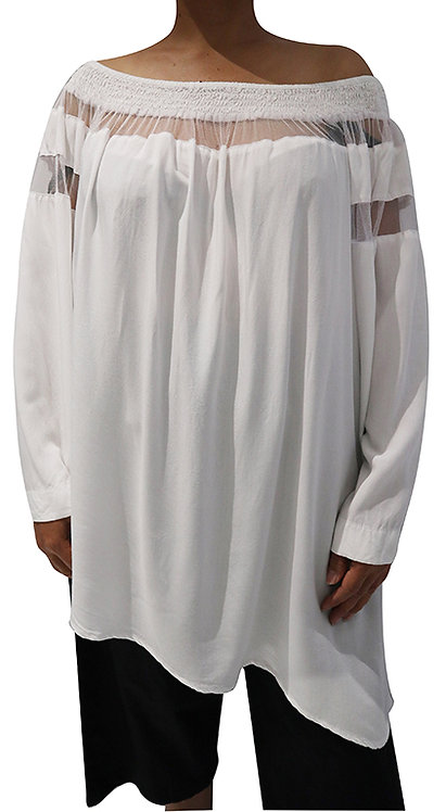 T11791 - White - Rayon Voile