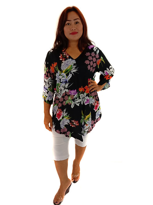 Top10 - Charcoal Flower - rayon