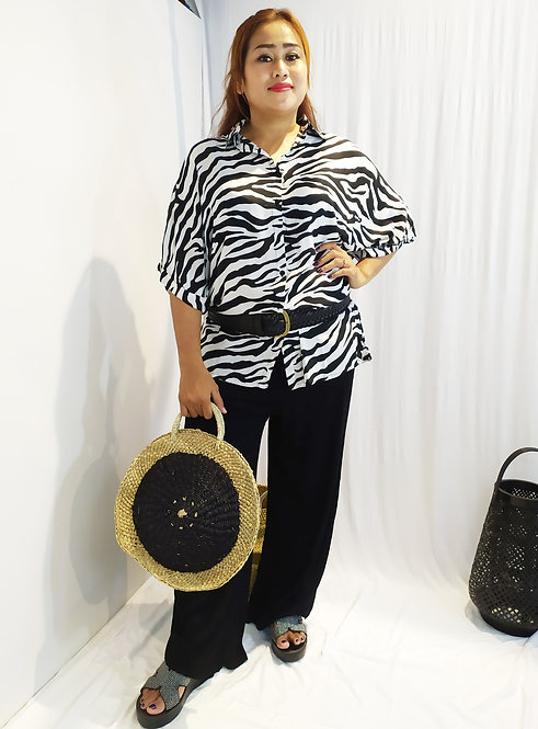 Women Resort Wear Clothing 2020 - T11714 Zebra Black Combi Promo Code