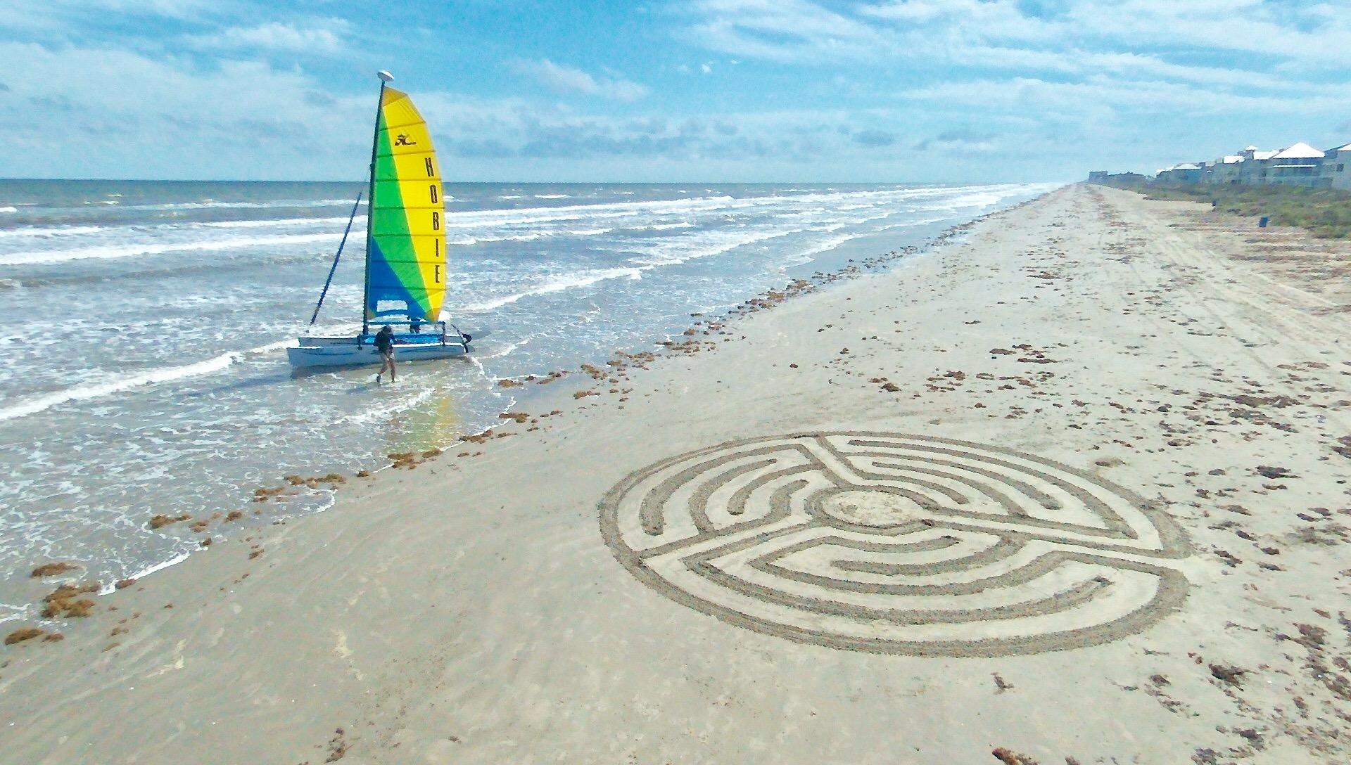 Galveston Beach Labyrinth