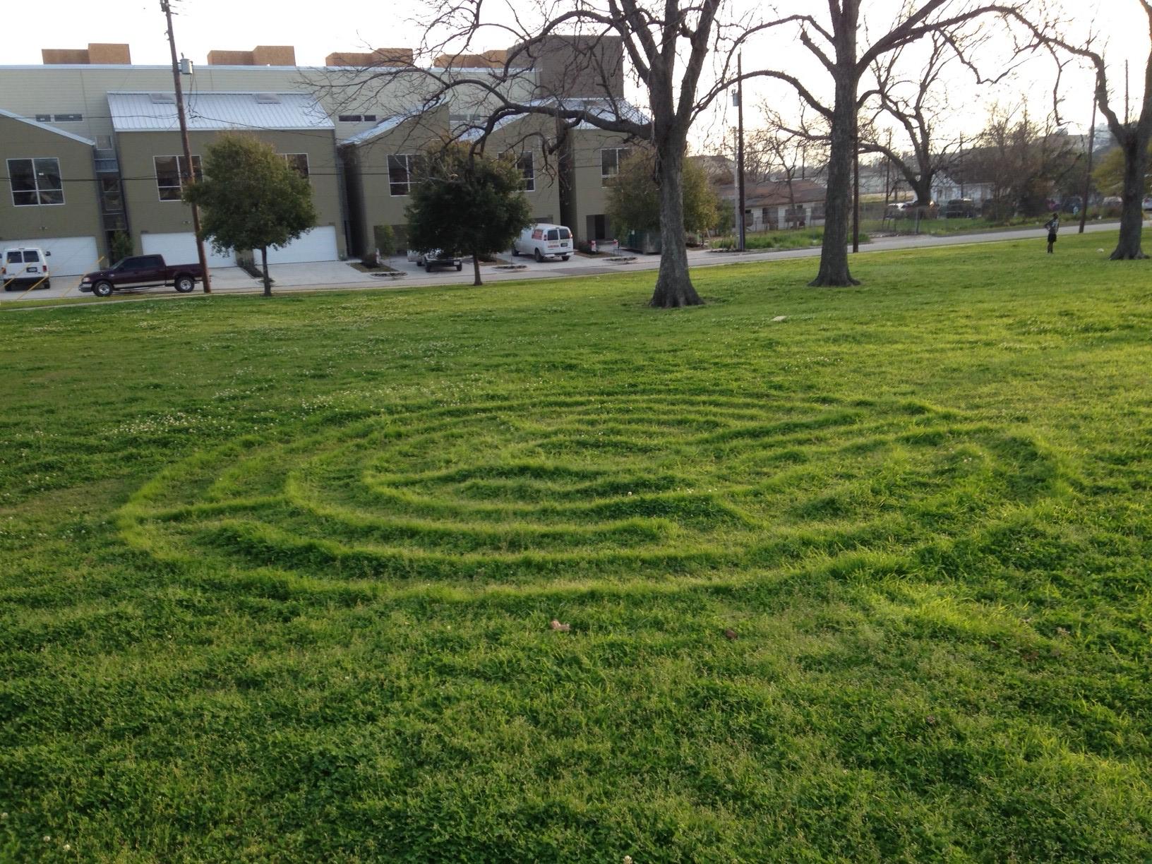 Swiney Park 5 circuit Turf labyrinth