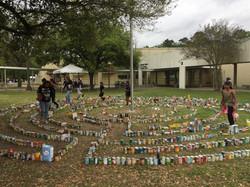 Donated Food Labyrinth