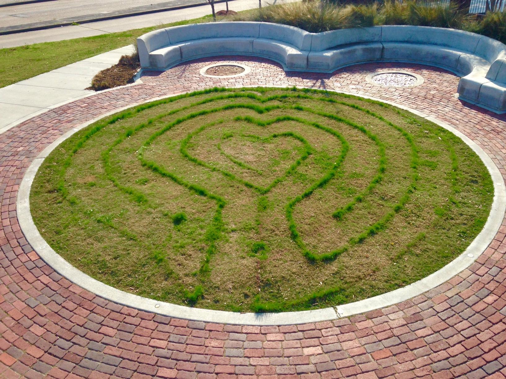 Old Sixth Ward 5 circuit Labyrinth