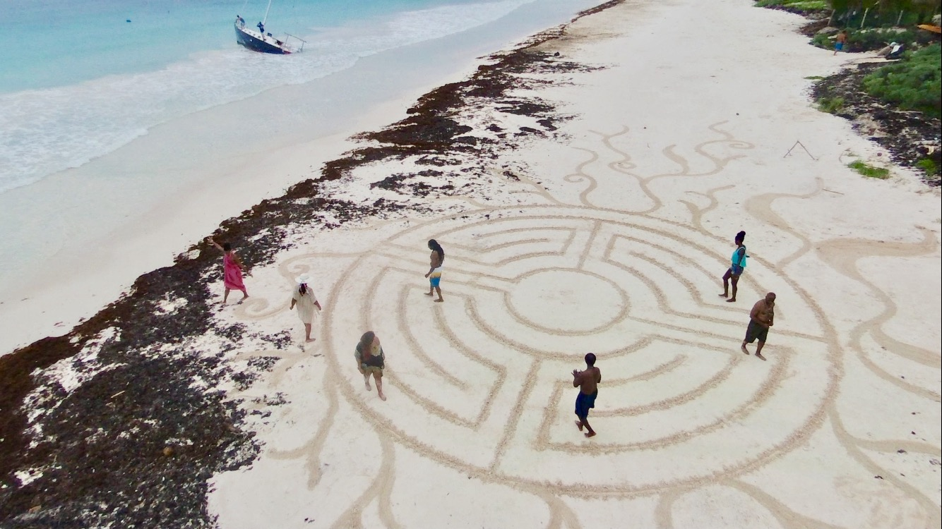 Beach Labyrinth: Tulum Mexico