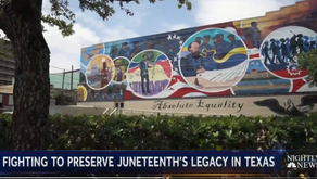 Artists commemorate Juneteenth with mural in Galveston, Texas