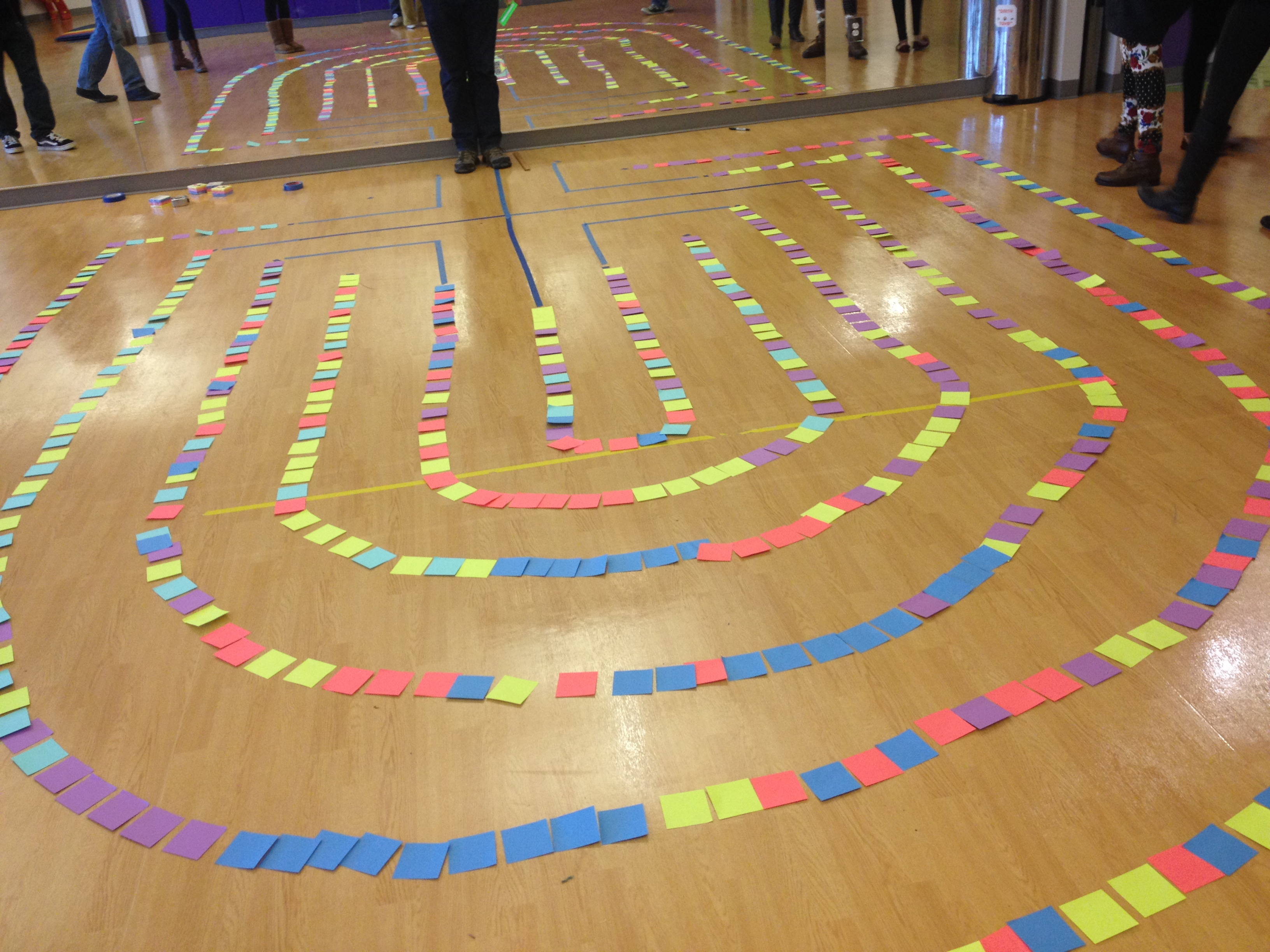 Post-It Note 5 circuit Labyrinth