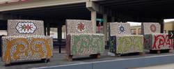 SSQ4  mosaic benches