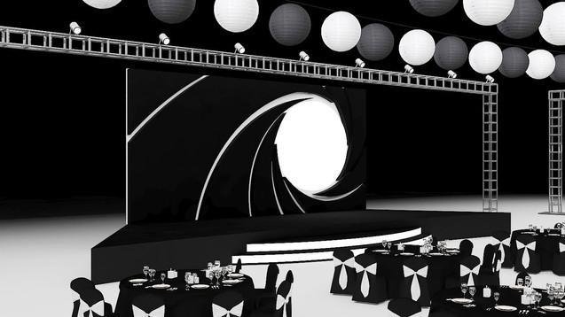 007 Theme Gala Dinner Design