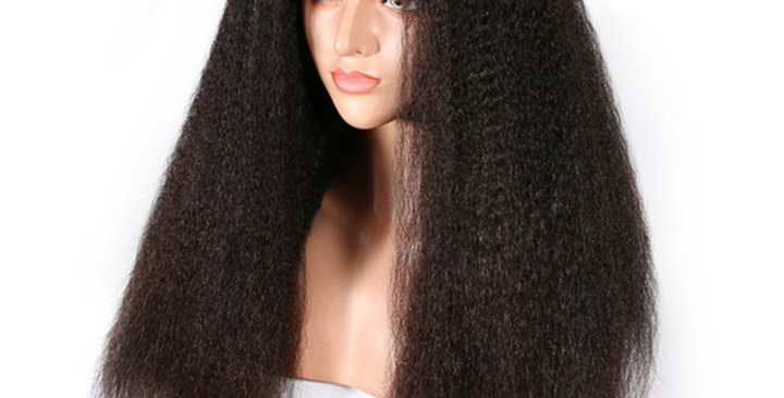 Kinky Straight Closure Wig