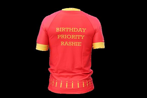 Birthday Rash Guard (Red)
