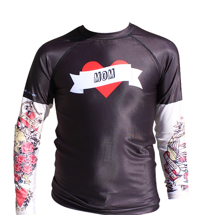 Tattoo Rash Guard - Red Pirate Mom