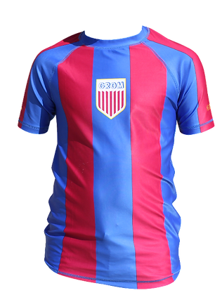 Soccer Rash Guard (Blue/Maroon)